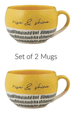 Rise And Shine Stoneware Mugs