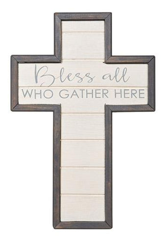 Bless All Who Gather Here Wall Cross Plaque Christian Decor COMING SOON
