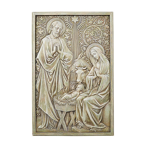 Holy Family Nativity Scene Wall Plaque Garden or Home