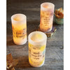 Believe with God all things are possible Floral Led Candle