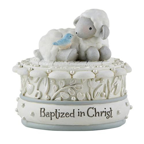 Lamb Baptized In Christ Keepsake Box