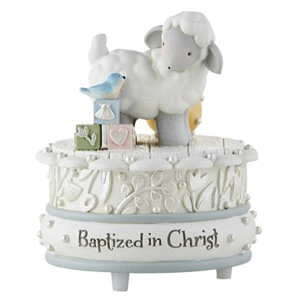 Baptism lamb musical figure