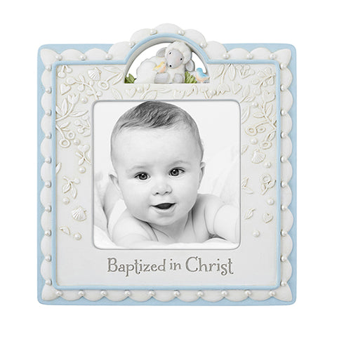 Baptized In Christ Little Boys Photo Frame