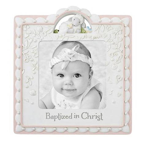Baptized In Christ Little Girls Photo Frame