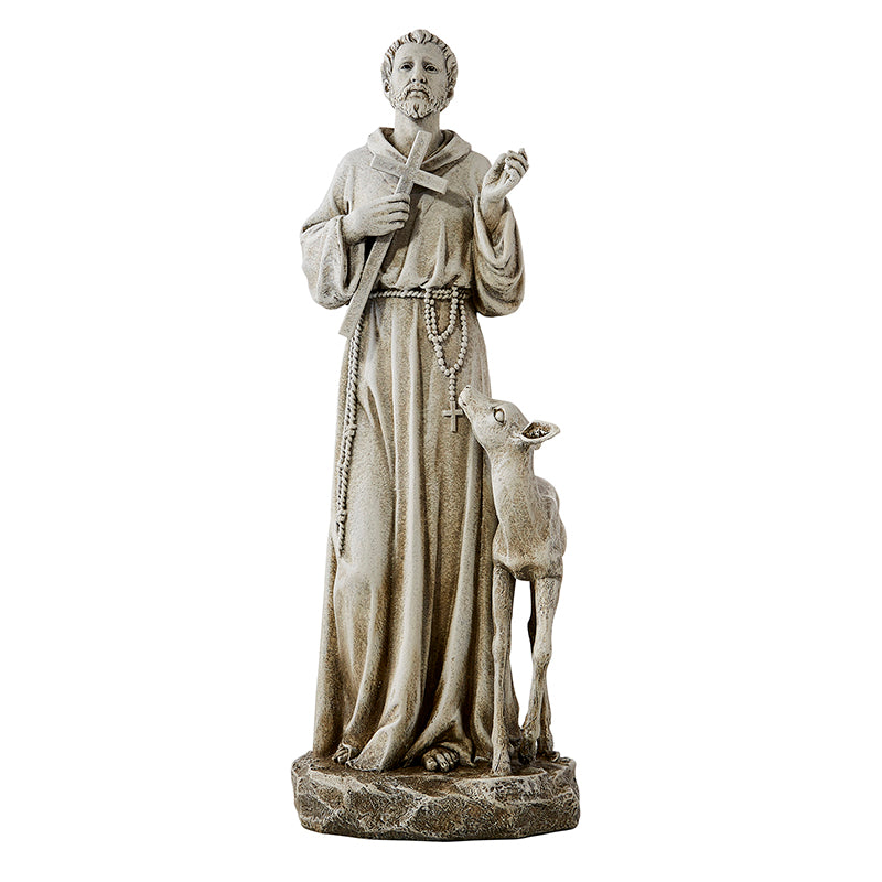 Saint Francis With Deer Garden Statue