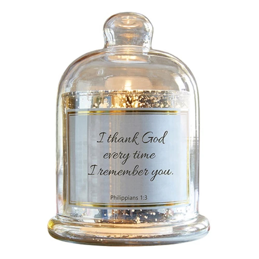 I Thank God Every Time I Remember Of You Candle Holder