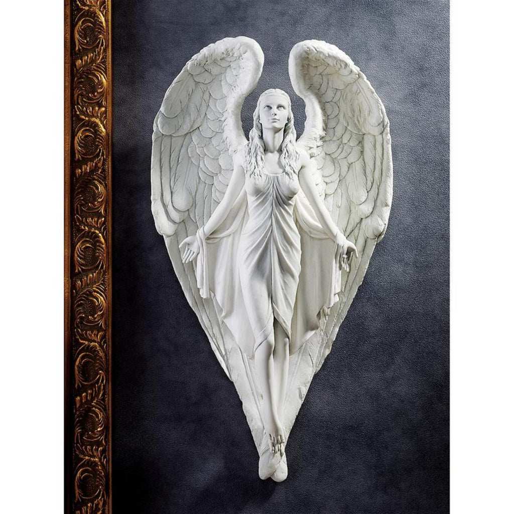 Spiritual wall angel sculpture