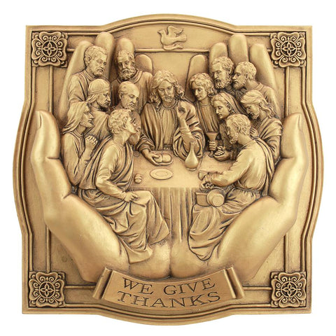 Give Thanks Hands Of The Lord Jesus Last Supper Plaque