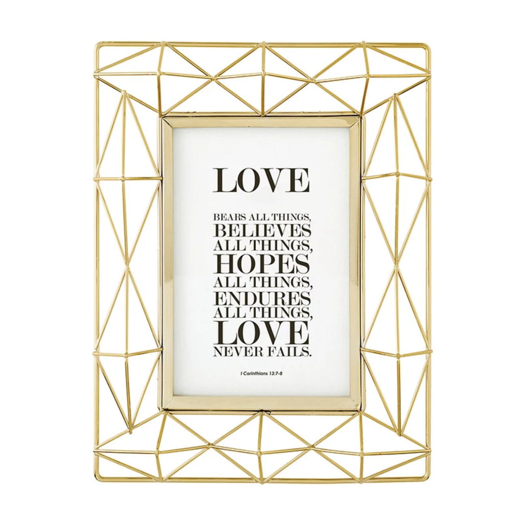 Love inspirational art in gold tone frame.