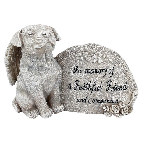 Forever In Our Hearts Dog Memorial Garden Figure