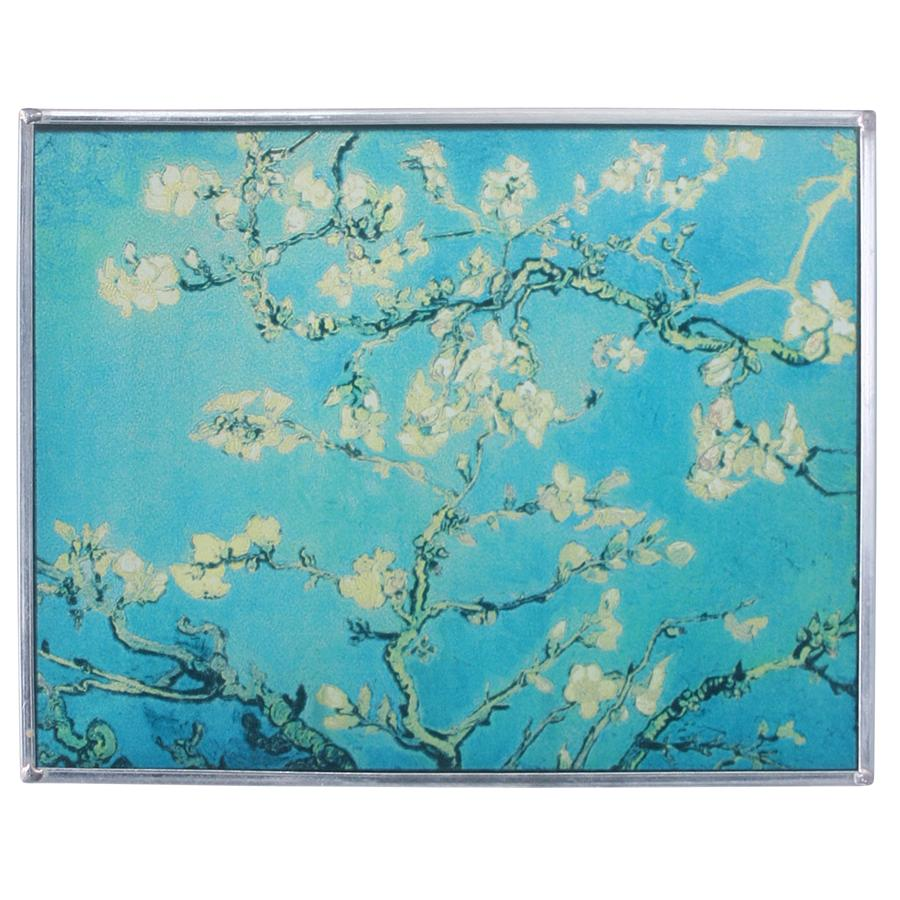 Almond Blossoms Glass Art Replica of 1890  Van Gogh