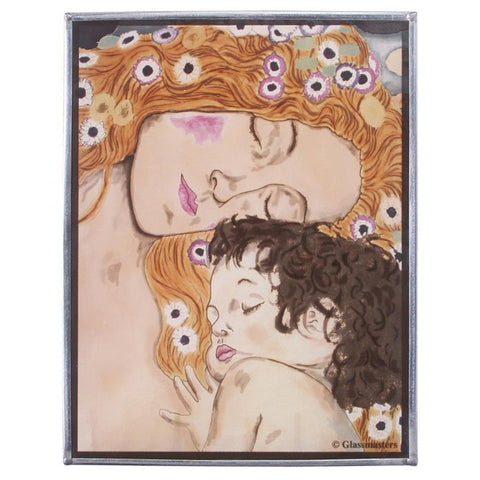 Mother and Child By Klimt - 1905 Art Glass