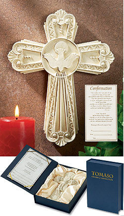 Jesus Holy Spirit Dove Confirmation Gift Wall Cross