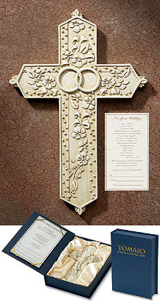 Wedding Rings Gift Cross Tomaso Crucifix in Box with Certificate