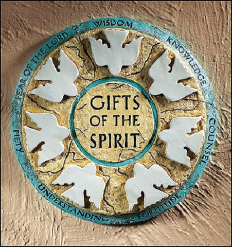 Christian Gifts Of The Holy Spirit Wall Plaque