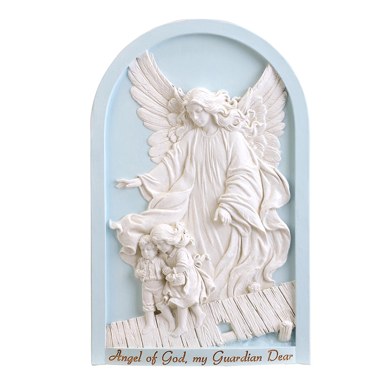 Blue Guardian Angel Wall Plaque