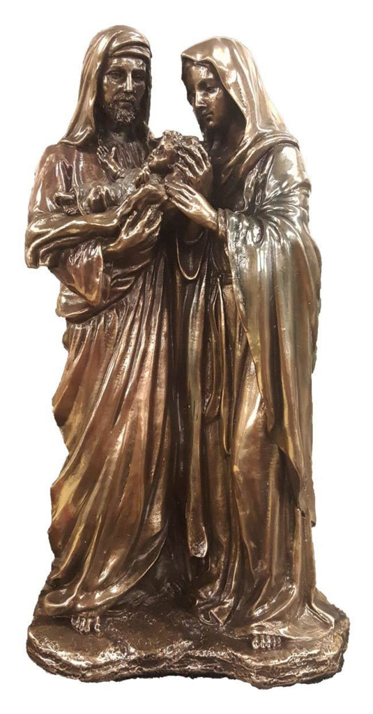 Holy family figure in bronze color