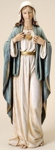 "Immaculate Heart Of Mary Statue Huge 37"" Tall Church Chapel Home Virgin Mary"