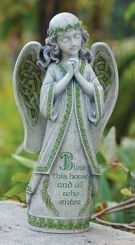 Irish Blessing Angel Figure For Garden Grave Or Home LG Christian Celtic Gift