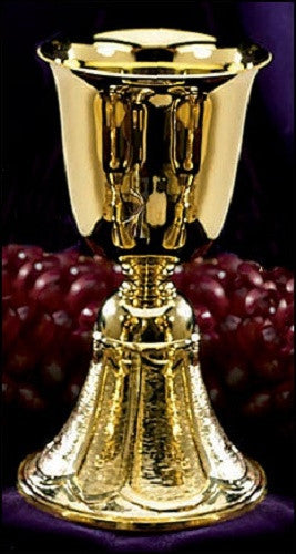 Gold Plated Common Communion Cup Large For Church Mass Altar Service