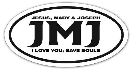 Jesus Mary Joseph Auto Decal - JMJ