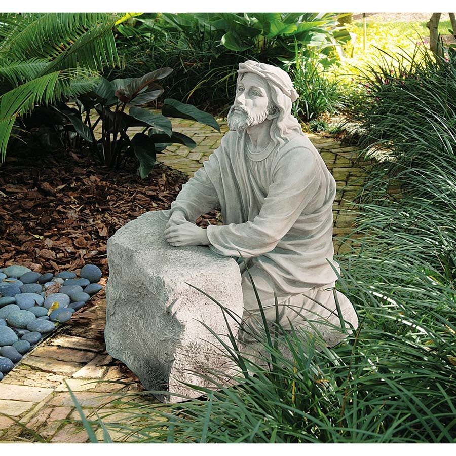 Jesus In The Garden Of Gethsemane Praying Statue