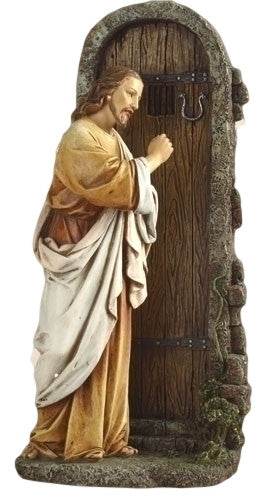 Jesus Knocking On Door Statue