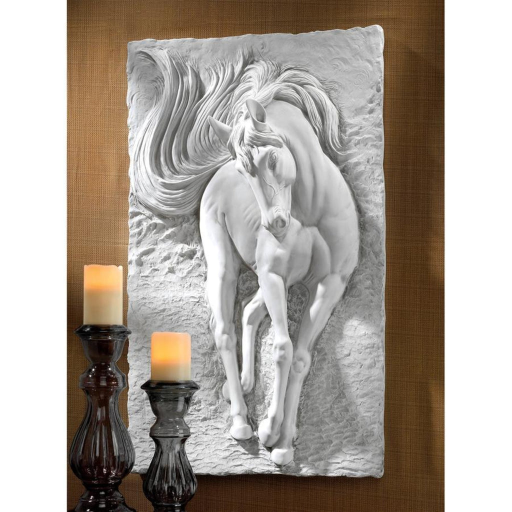 Equine Grandeur Horse Wall Sculpture Large horse plaque