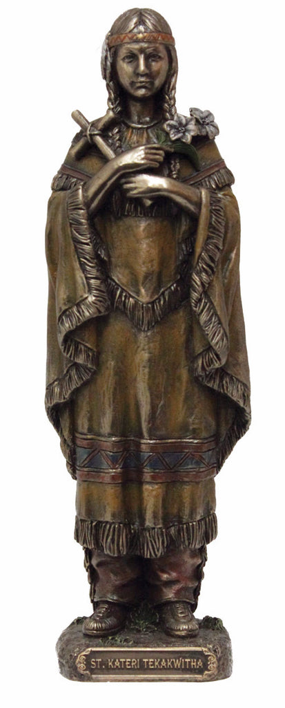 Saint Kateri Tekakwitha Bronze Style Veronese Collection