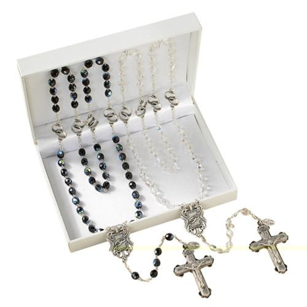 Wedding Crystal Rosary Gift Set for Bride and Groom