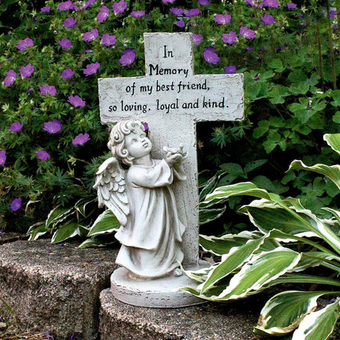 Best Friend Pet Angel Memorial Statue