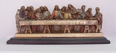 The Last Supper Statue Hand Painted  Veronese Collection