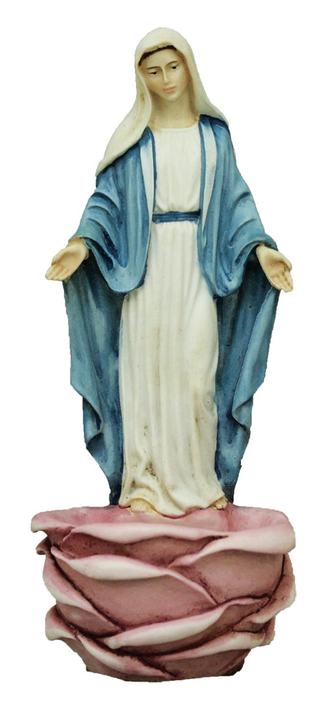 Madonna rose holy water font from Italy