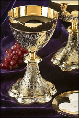 Embossed Vines Chalice With Paten
