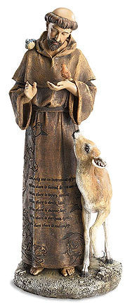 Saint Francis the Animal lover Prayer Statue - Figures of Faith