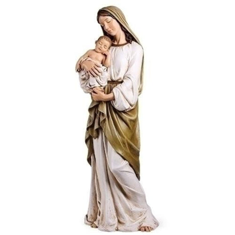 "Madonna And Child Large Catholic Statue 37"" Tall"