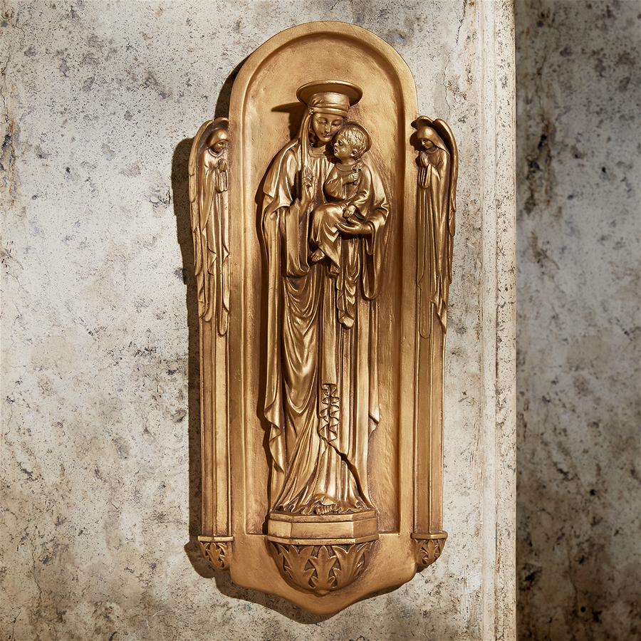 Virgin Benedetto di Turin Wall Sculpture