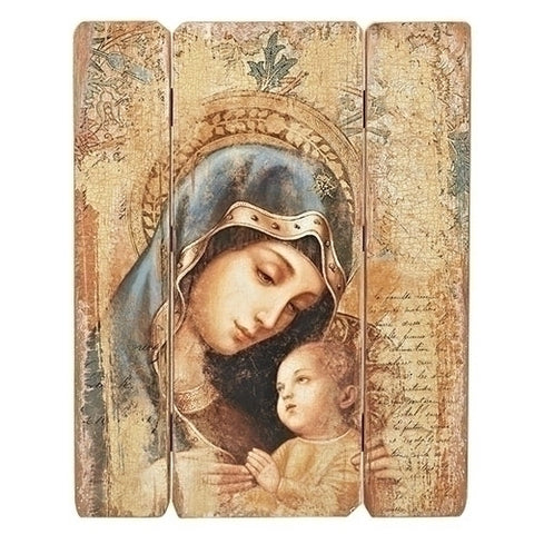 Madonna And Child Vintage Style Wall Panel