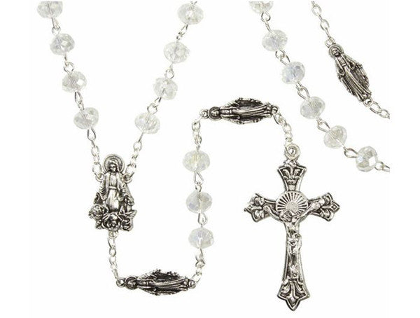 Madonna Crystal  Rosary With Our Lady of Grace Our Father Beads