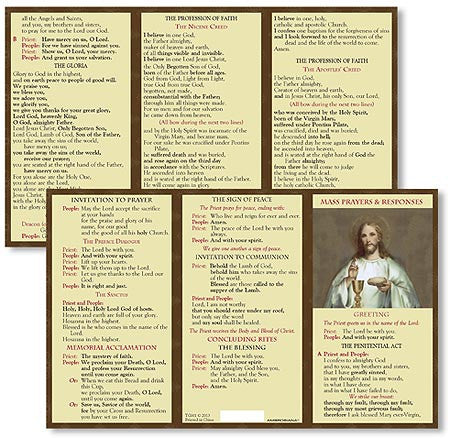 Mass Prayer and Responses Pocket Card Set of 24