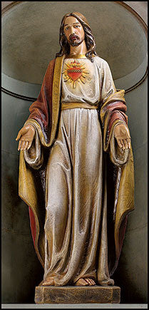 "Sacred Heart of Jesus  Basilica Church statue   48"" Tall"