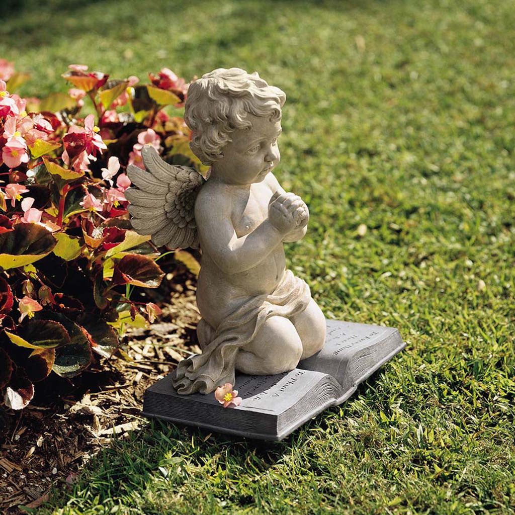 Praying Cherub garden statue