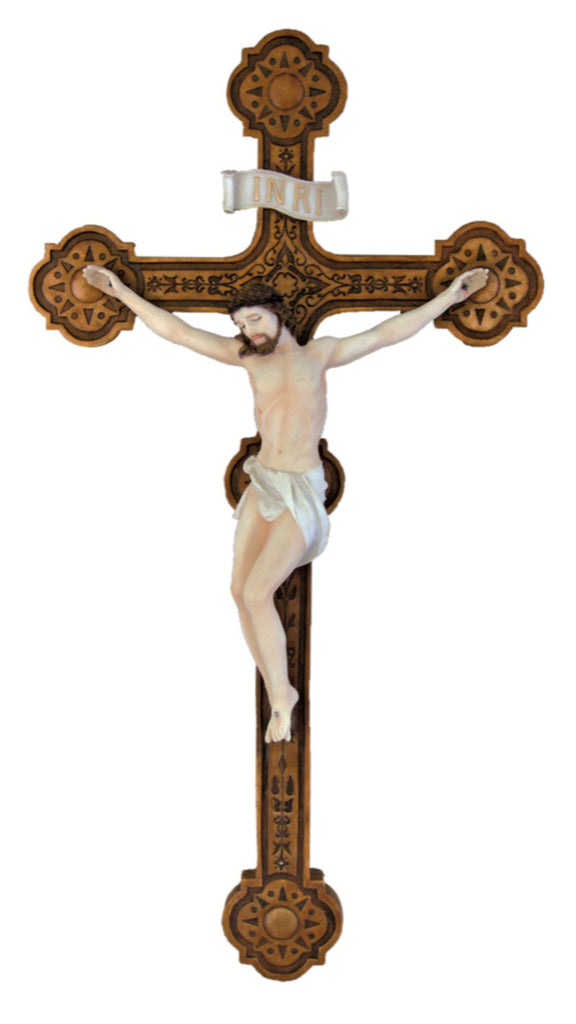 INRI Jesus Wall Crucifix In Full Color  Veronese Colleciton