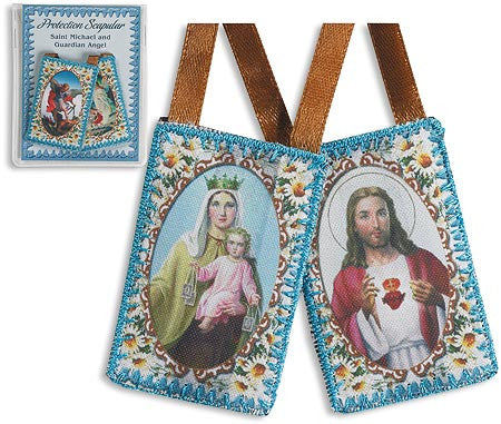 Our Lady of Carmel With Sacred Heart of Jesus  Scapular