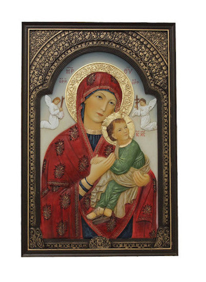 Our Lady of Perpetual Help Icon Plaque Wall or Desk