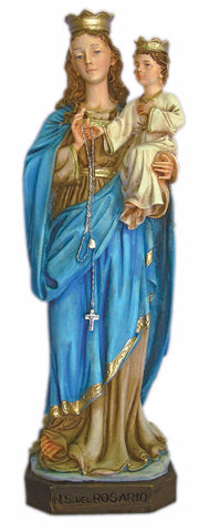 Madonna Of The Rosary Alabaster Statue