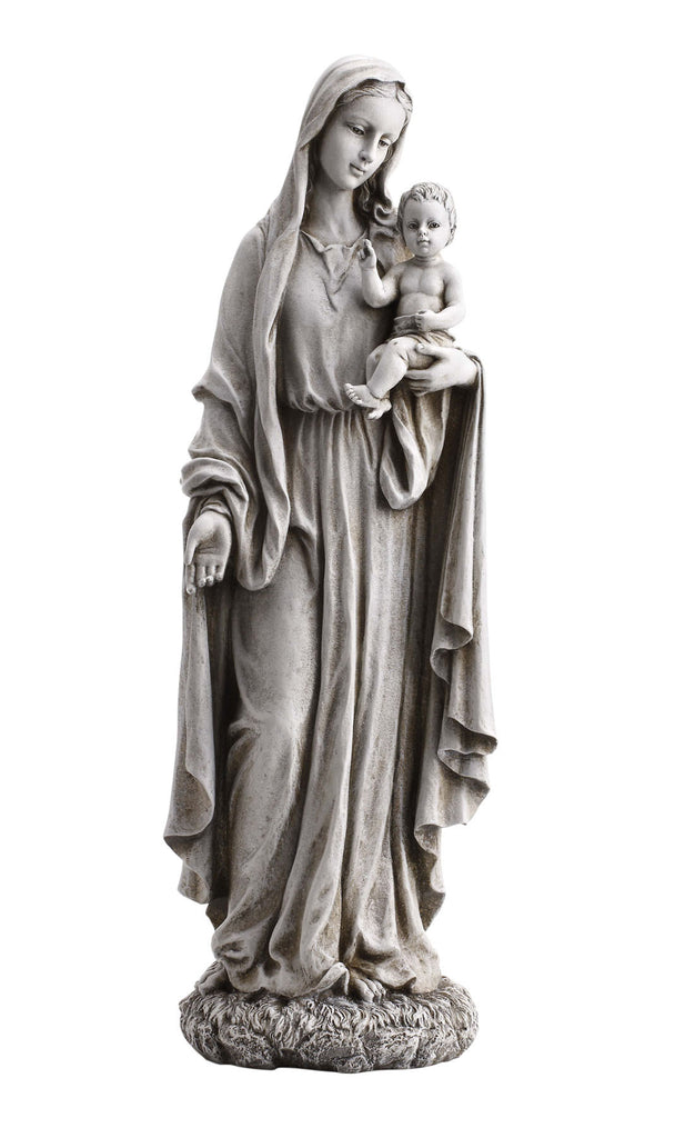 "Madonna Our Lady of Grace With Jesus Garden Statue  23"" Tall"