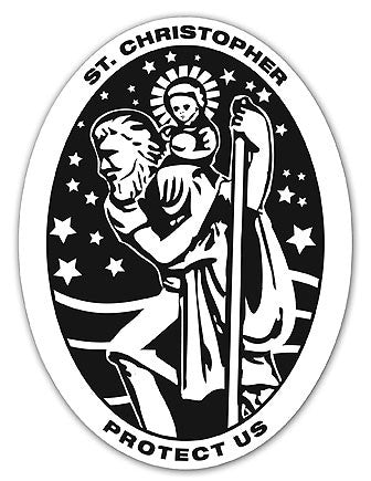 Saint Christopher Vinyl Auto Decal - Protection During Travels