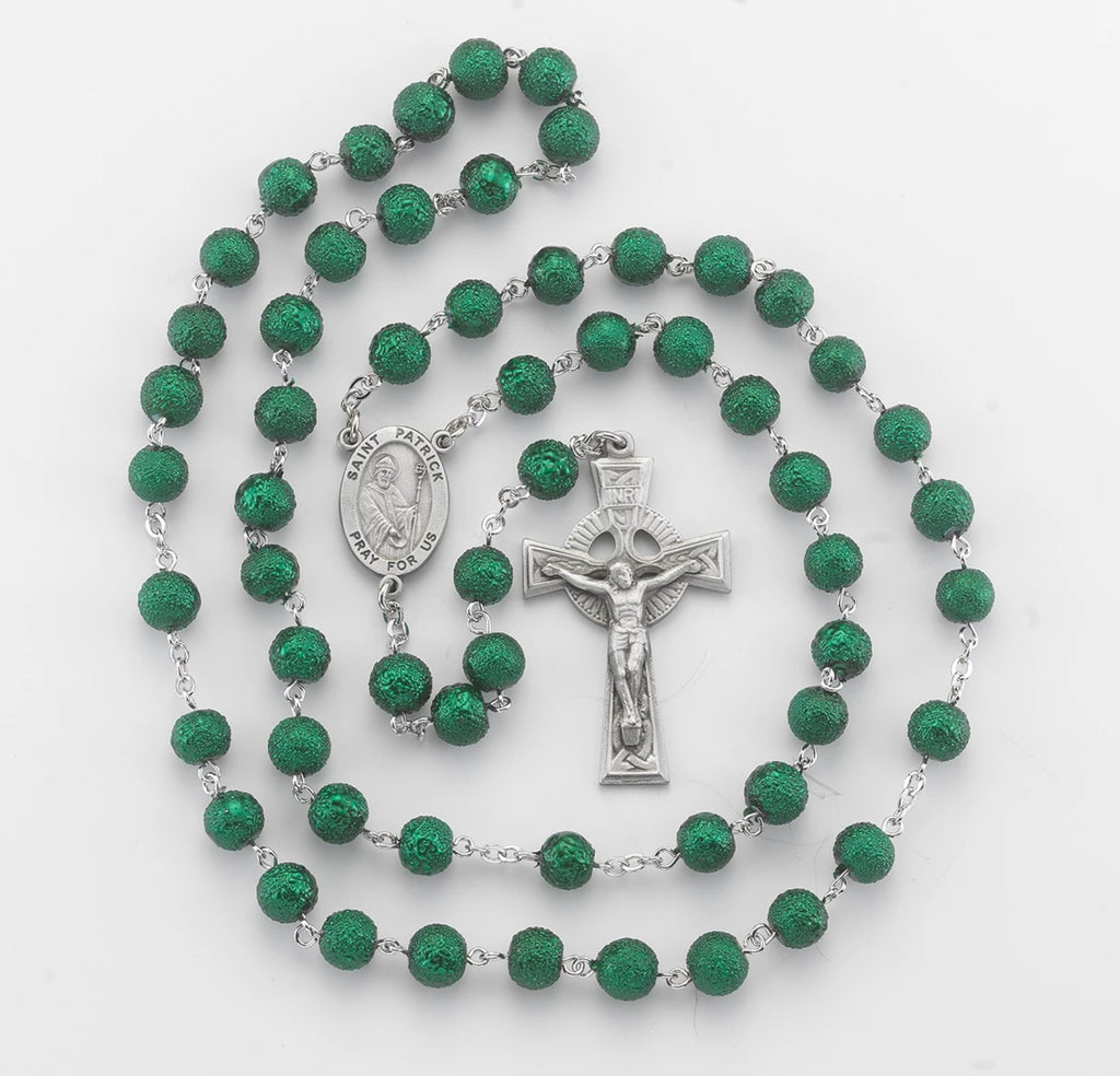 Irish Green Rosary New England Pewter Collection