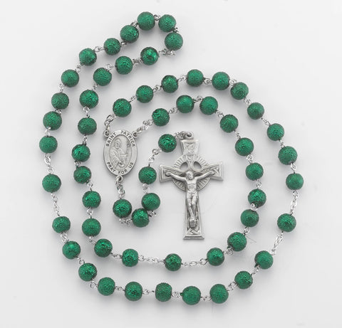 Irish Saint Patrick New England Pewter Rosary